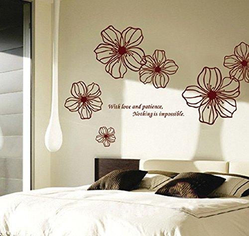 Ufengke® bella vite fiori e farfalle adesivi murali, camera da ...