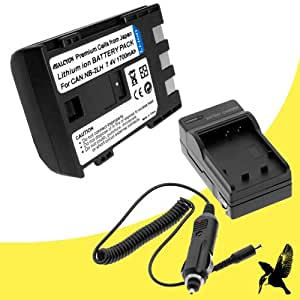 Halcyon 1700 mAH Lithium Ion Replacement Battery and Charger Kit for Canon PowerShot G9 12.1MP Digital CamEra and Canon NB-2LH