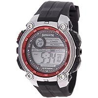 Sonata Ocean Digital Grey Dial Men's Watch - NF7993PP03J