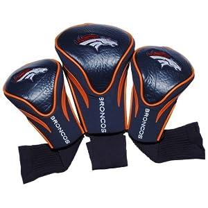 NFL Denver Broncos 3 Pack Contour Fit Headcover by Team Golf