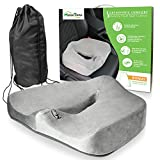 Motion Trend Seat Cushion - Orthopedic Coccyx Comfort Bamboo Memory Foam (Gray)