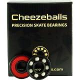 Cheezeballs Gouda Bearings - 8mm 16 Pack - Roller Derby Skate Bearings by Cheezeballs Bearings