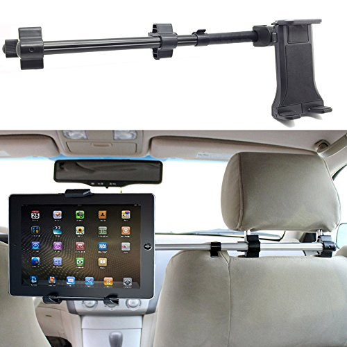 ChargerCity Premium Center Extension Car Seat Headrest Mount w/ Universal Tablet Cradle Holder for Apple iPad Air Pro Mini Nexus Samsung Galaxy Tab Microsoft Surface Pro (Fits All 7 - 12 inch screens) (Ipad Headrest Holder For Car compare prices)