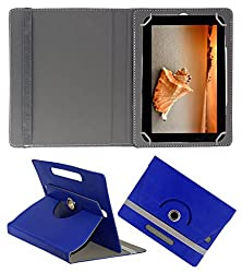Acm Rotating 360° Leather Flip Case For Anwyn Aero Aw-T720 Tablet Cover Stand Dark Blue
