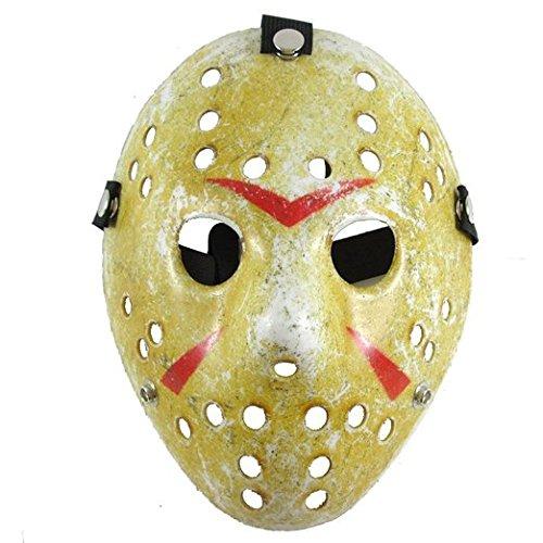 SureWells Friday the 13th Part3 Jason Hockey HORROR deluxe MASK Khaki