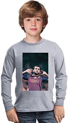 Daniel Alves Da Silva-Wide Amazing Kids Long Sleeved Shirt by True Fans Apparel - 100% Cotton- Ideal For Active Boys-Casual Wear - Perfect For A Present Unisex 5-6 years