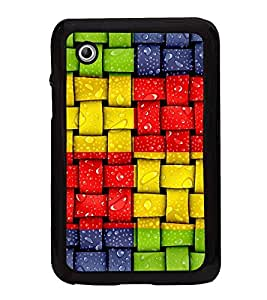 Colourful Weave Pattern 2D Hard Polycarbonate Designer Back Case Cover for Samsung Galaxy Tab 2 :: Samsung Galaxy Tab 2 P3100