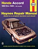 img - for Honda Accord 1984 thru 1989 All Models (Haynes Repair Manual) book / textbook / text book