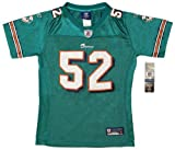 New GIRLS Reebok On Field NFL Aqua Miami Dolphins Crowder 52 Jersey YOUTH Size Large (14-16) (Girls Youth Small (7-8)) at Amazon.com