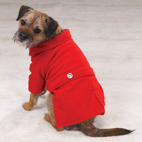 Red Medium Dog Pea coat