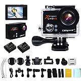 Campark HD 30m防水 4K (25fps)日本語対応 HD 1080P 多機能防水 スポーツアクションカメラ 2つバッテリーに付き
