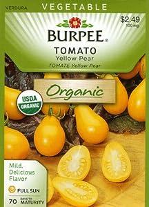 Burpee 68521 Organic Tomato Yellow Pear Seed Packet