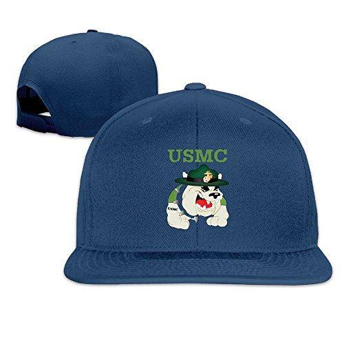 BAI XUE USMC Devil Dogs Baseball Hat Cap Navy