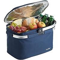 VonShef Foldable 22L Insulated Large Cooler Bag (Navy)