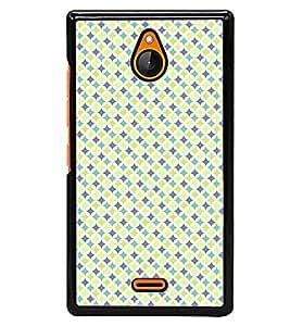 Fuson Premium Yellow Diamonds Metal Printed with Hard Plastic Back Case Cover for Nokia XL