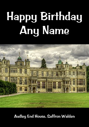 Audley End House, colore: zafferano, Inghilterra Walden Personalised Birthday Greetings Card