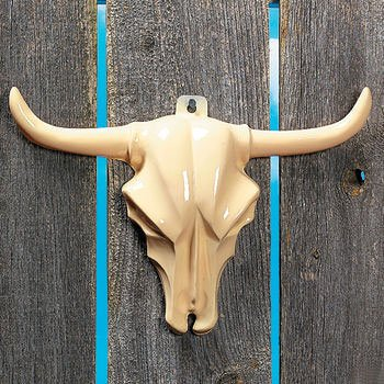 Plastic Steer Head Decoration