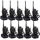 Retevis H-777 Walkie Talkie Single Band UHF 400-470MHz 3W 16CH CTCSS/DCS VOX with Earpiece Illumination Flashlight 2 Way Radio Transceiver Ham Radio (10 Pack)