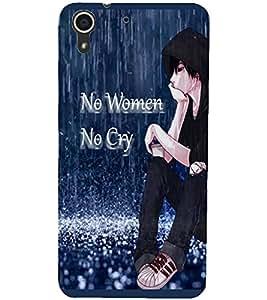 Fuson Sad Boy Back Case Cover for HTC DESIRE 728 - D4093