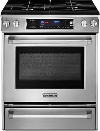 Amazon Com Kitchenaid Kdss907xsp 30 Inch 4 Burner Pro