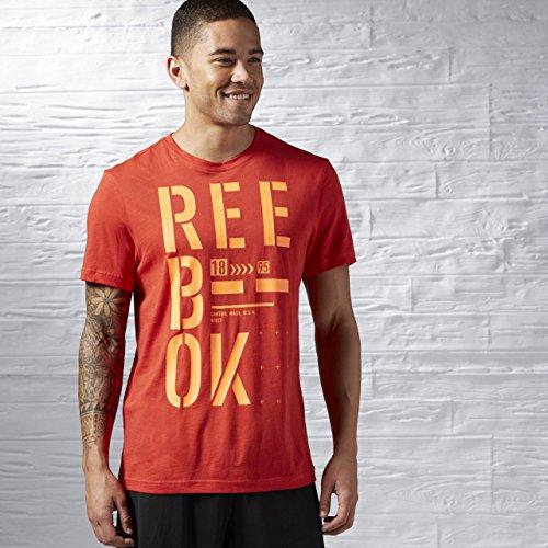 Reebok t-shirt da uomo rosso L