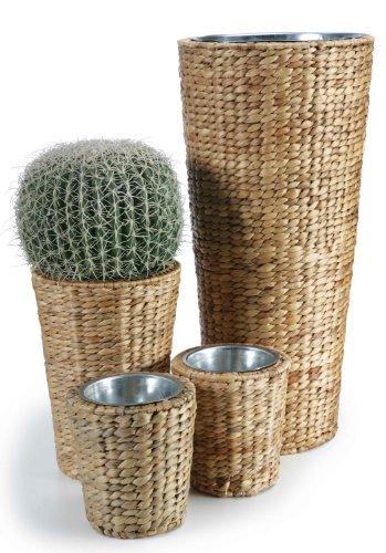 Pflanztöpfe, Pflanzgefäße, Übertöpfe aus Wasserhyazinthe 4er Set