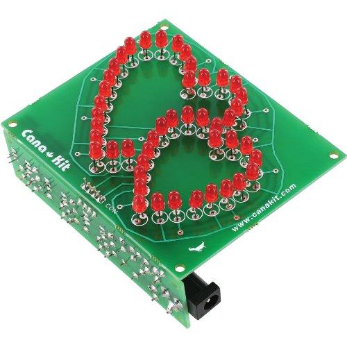 Canakit Uk155 - Rotating Hearts Valentine Led Display (Assembled Module)