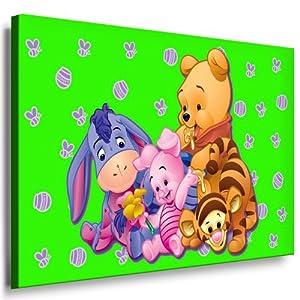 winnie the pooh kinderzimmer leinwandbild 100x70cm k poster bild fertig auf keilrahmen. Black Bedroom Furniture Sets. Home Design Ideas