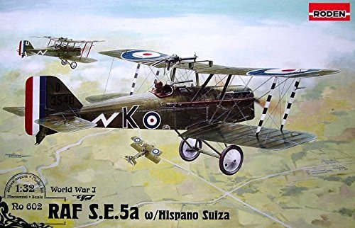 raf-se5a-w-hispano-suiza-british-aircraft-wwi-1-32-roden-602-free-shipping-by-roden