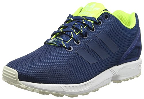 Adidas Zx Flux, Espadrillas Uomo, Blu (Shadow Blue/Solar Yellow/Haloshadow Blue/Solar Yellow/Halo), 38 EU