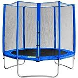 SixBros. SixJump 2,45 M Trampolín de jardín azul examinado por Intertek / GS | Red de seguridad - CST245/L1603