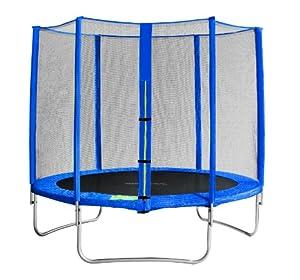 SixBros. Sixjump 2,45 M Trampoline de jardin bleu Certifié par Intertek / GS | Filet de sécurité - CST245/L1603