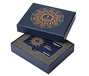 Wedding Gifts For 3000 Rupees : ... Gift Card - Festive Greetings Box (Blue, Rs. 3000): Amazon.in: Gift