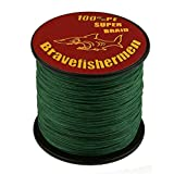 Dark Green super strong PE braided fishing line (500M, 60LB) (Color: Dark Green, Tamaño: 500M)