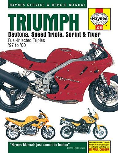 Triumph Daytona, Speed Triple, Sprint & Tiger: 885/955cc '97 to '05 (Haynes Service & Repair Manual) PDF