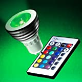 Auraglow GU10 Remote Controlled Colour Changing LED Light Bulb