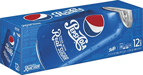 Pepsi Made with Real Sugar Cans (12 Count, 12 Fl Oz Each) (Canned Soda compare prices)