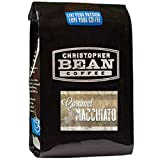 Christopher Bean Coffee Decaffeinated Ground Coffee, Caramel Macchiato, 12 Ounce
