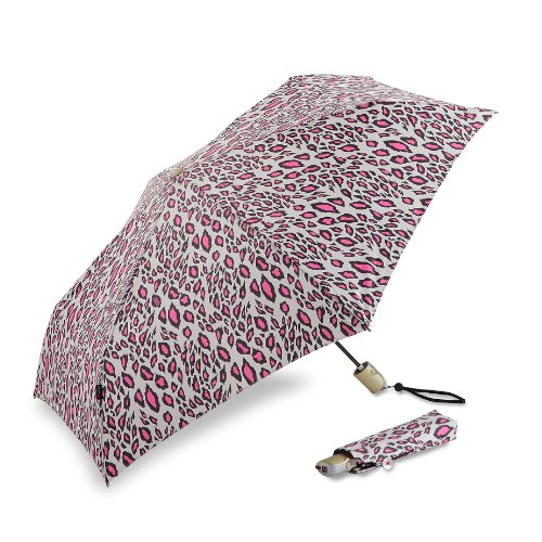 knirps-luggage-flat-duomatic-umbrella-snow-leopard-pink-small