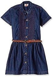 UFO Girls' Dress (AW16-WR-GKT-343_Indigo Dark_10 - 11 years)