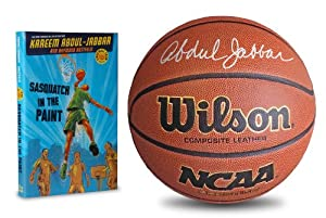 Autographed Kareem Abdul-Jabbar Wilson Composite Leather Basketball, Laker Photograph... by Starguard+Collectibles
