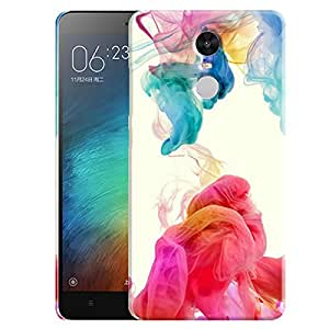 Theskinmantra Flowing colors back cover for Redmi Note 3