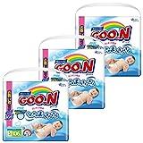 【ケース販売】グーン(GOO.N) テープ はじめての肌着 Sサイズ (4~8kg) 318枚(106枚入×3パック)