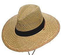 Lightweight Sunny Beach Straw Hat - Beige - Large