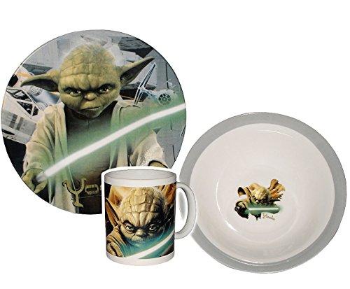 3-tlg-Geschirrset-Star-Wars-Yoda-Jedi-Porzellan-Trinktasse-Teller-Mslischale-Kindergeschirr-Keramik-Frhstcksset-fr-Kinder-Jungen-Starwars-Clone-Ritter-Darth-Vader-Frhstcksgeschirr-Geschirr