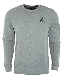 Nike Mens Air Jordan Brushed Crew Sweatshirt Medium