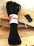 X-cords Boot Laces Kit -Will Fit ALL Boot Sizes-includes 25 Feet or 300 Inches of USA Made Paracord 850,8 Inner Strands, Aglet Shrink Tubing and a Free Paracord Bracelet Buckle. Great for Hiking, Military, Wolverine, Red Wing, Rocky and Danner Boots. Extra EDC Survival Gear.