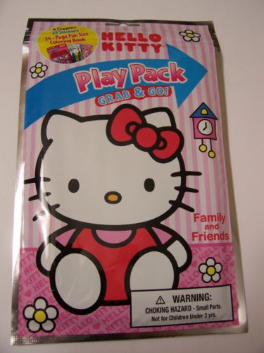 Hello Kitty Grab & Go Play Pack ~ Family and Friends (Fun Book to Color with Crayons and Stickers; 2013)