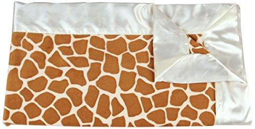 "My Blankee Giraffe Minky Baby Blanket, 30"" X 35"", Rust"