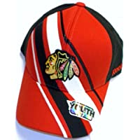 NHL Chicago Blackhawks Pro Shape Velcro Strap Reebok Hat - Youth 4 - 7 Yrs